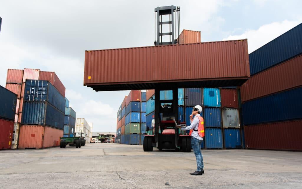 Freihandel Containerhafen