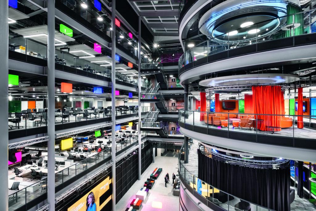 BBC Zentrale Wales Zumtobel-Beleuchtung